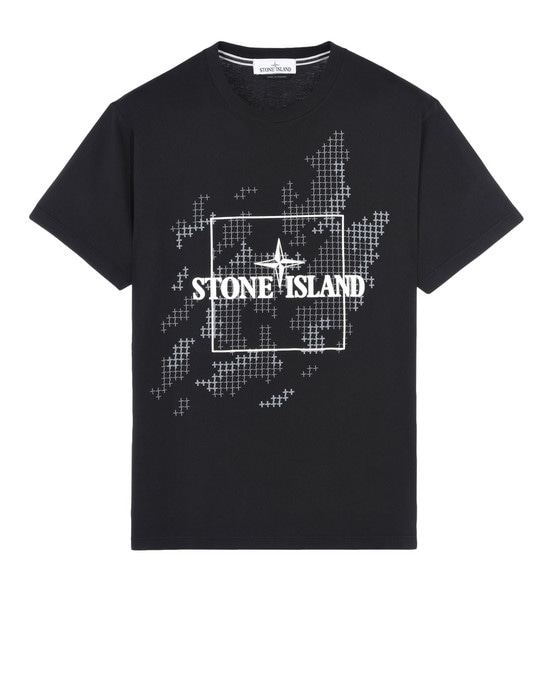 STONE ISLAND Short sleeve t-shirt 2NS84 INSTITUTIONAL CAMO