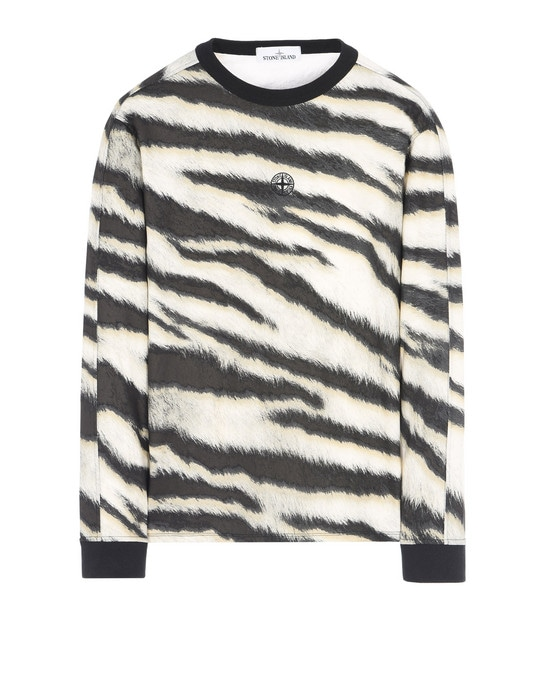 STONE ISLAND Long sleeve t-shirt 243E2 WHITE TIGER CAMO