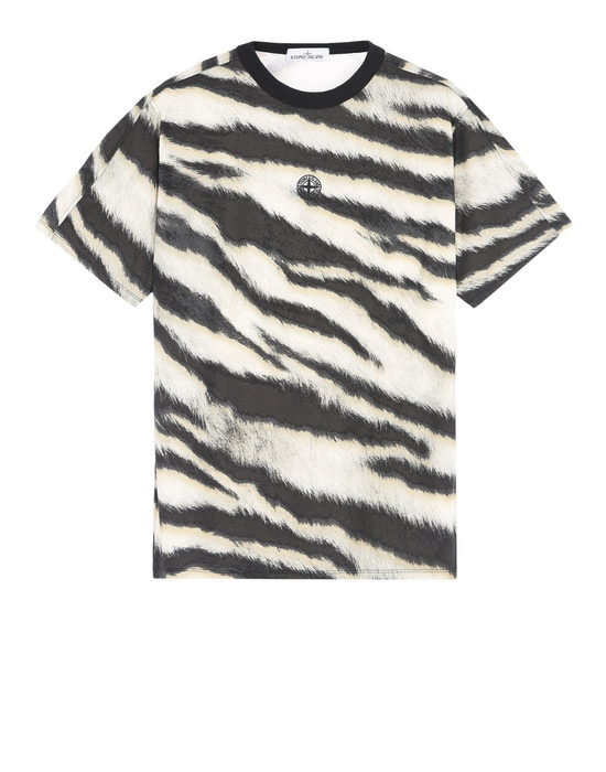 STONE ISLAND Short sleeve t-shirt 242E2 WHITE TIGER CAMO