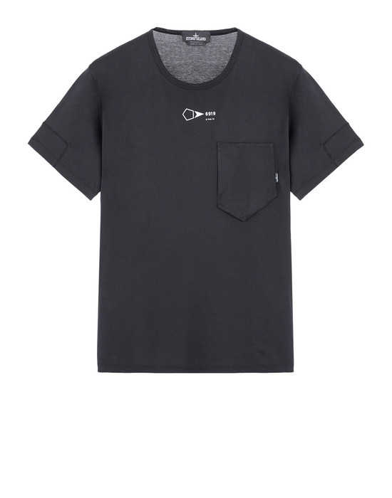 STONE ISLAND SHADOW PROJECT Short sleeve t-shirt 20110 PRINTED SS CATCH POCKET-T (JERSEY MAKO) GARMENT DYED