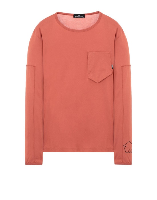 STONE ISLAND SHADOW PROJECT Long sleeve t-shirt 20210 PRINTED LS CATCH POCKET-T (JERSEY MAKO) GARMENT DYED
