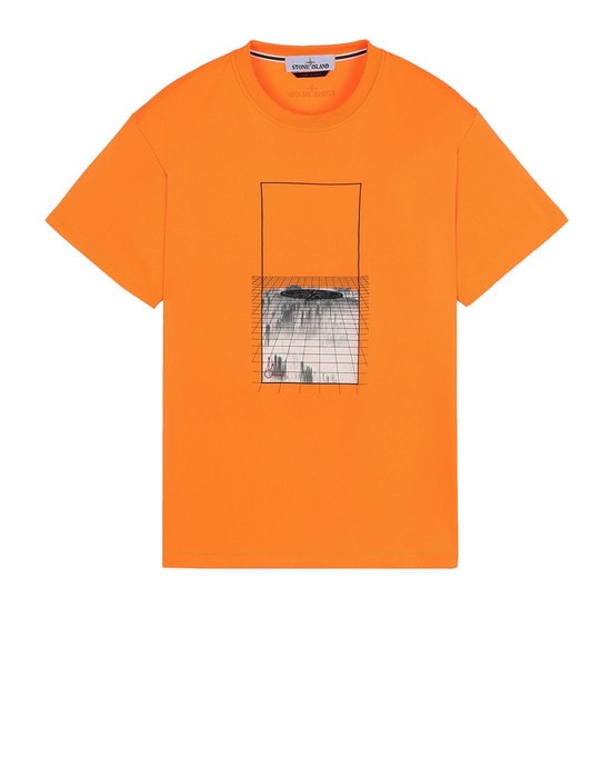 STONE ISLAND Short sleeve t-shirt 2NS81 'GRAPHIC FOUR' FLUO