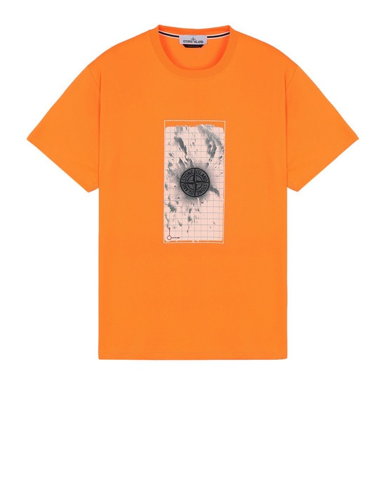 STONE ISLAND Short sleeve t-shirt 2NS82 'GRAPHIC FIVE' FLUO