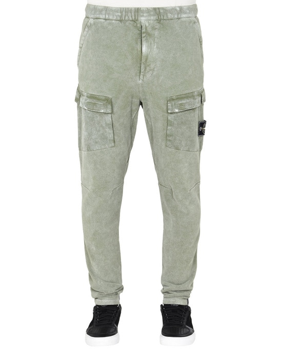 STONE ISLAND Trousers 32119 WHITE FROST