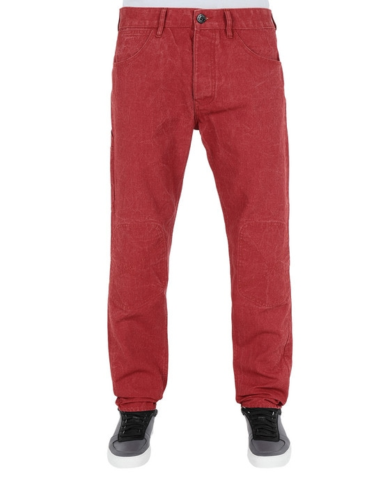 STONE ISLAND Trousers J03J1 PANAMA PLACCATO RE-T