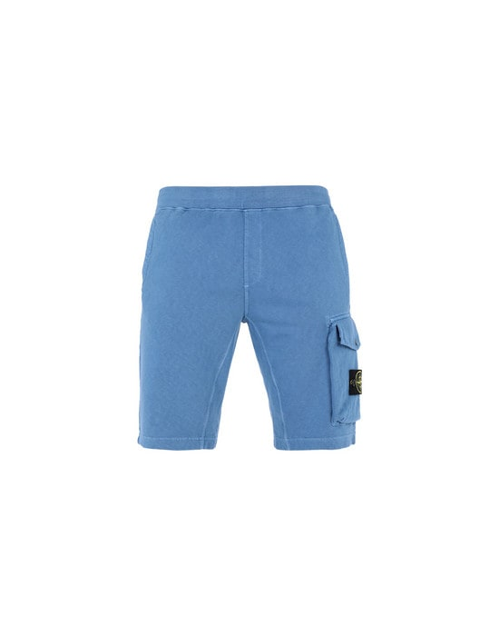 STONE ISLAND FLEECE BERMUDA SHORTS 65860 TINTO 'OLD'