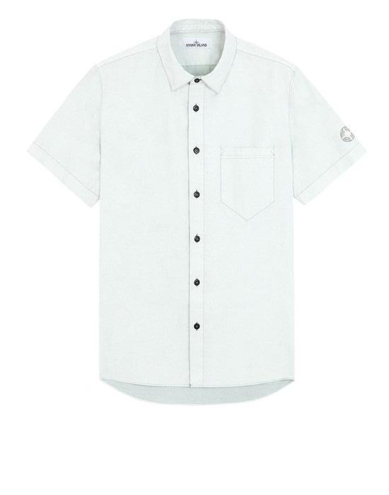 STONE ISLAND Short sleeve shirt 12962 TELA PARACADUTE PLACCATA-TC