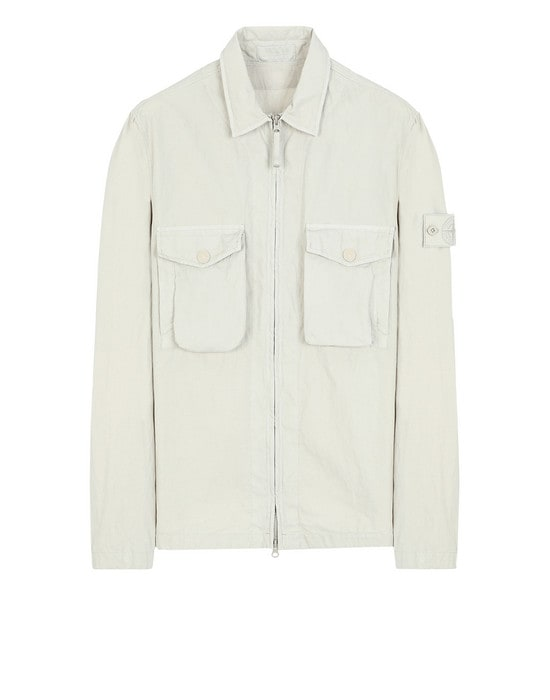 STONE ISLAND 衬衫外套 103F2 GHOST PIECE_COTTON NYLON TELA