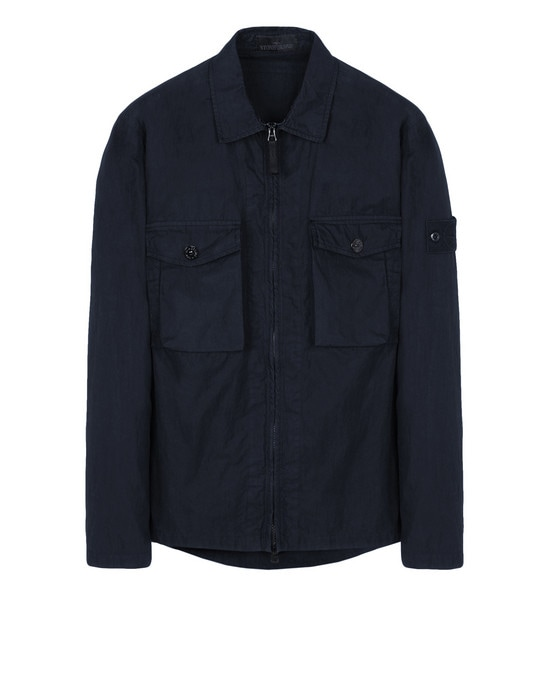 STONE ISLAND 오버 셔츠 103F2 GHOST PIECE_COTTON NYLON TELA