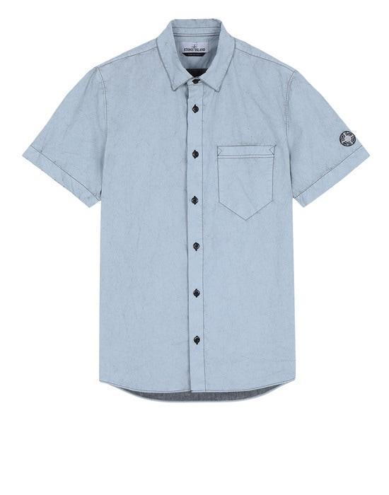 STONE ISLAND 반소매 셔츠 12962 TELA PARACADUTE PLACCATA-TC