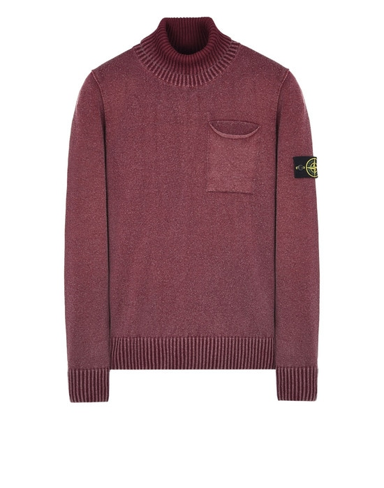 STONE ISLAND High neck sweater 503D4 WHITE FROST