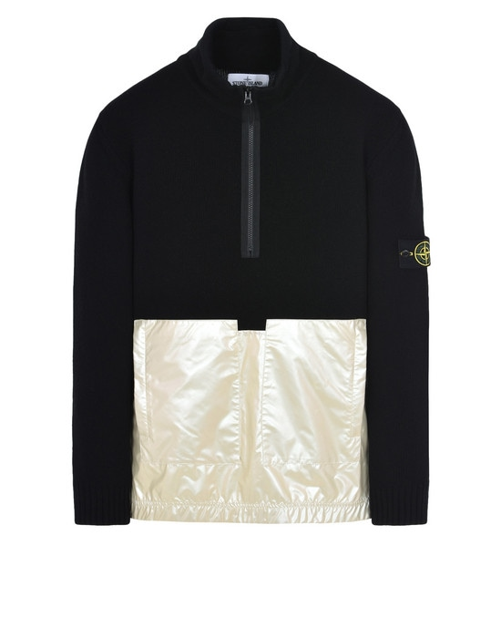 STONE ISLAND Sweater 599MA LAMBSWOOL WITH IRIDESCENT COATING TELA