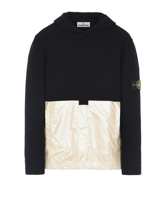 STONE ISLAND Свитер  598MA LAMBSWOOL WITH IRIDESCENT COATING TELA