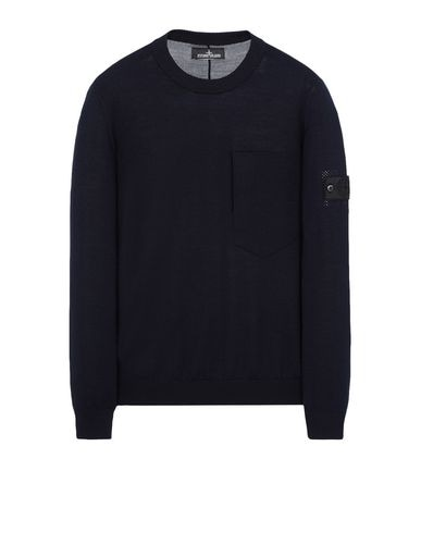 501A4 CATCH POCKET-T CREWNECK (VIRGIN WOOL/SILK BLEND)
