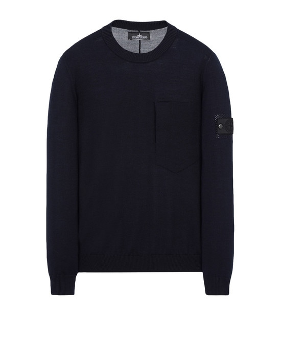 STONE ISLAND SHADOW PROJECT Crewneck 501A4 CATCH POCKET-T CREWNECK (VIRGIN WOOL/SILK BLEND)