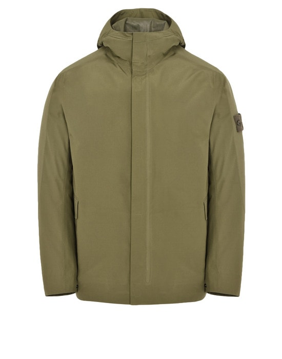 STONE ISLAND Mid-length jacket 42429 GHOST PIECE_TANK SHIELD FEATURING MULTI LAYER FUSION TECHNOLOGY