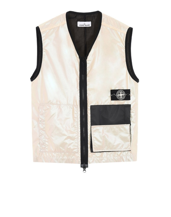 STONE ISLAND Vest G07M1 IRIDESCENT COATING TELA WITH REFLEX MAT