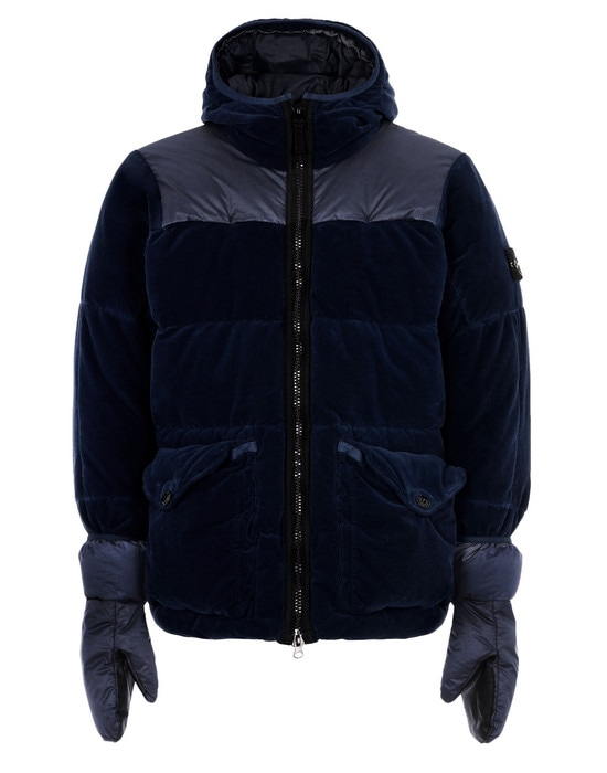 STONE ISLAND Down jacket 44125 COTTON VELVET DOWN-TC WITH REVERSE LAMY FLOCK