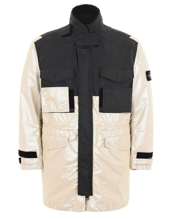 STONE ISLAND ДЛИННАЯ КУРТКА 709M1 IRIDESCENT COATING TELA WITH REFLEX MAT
