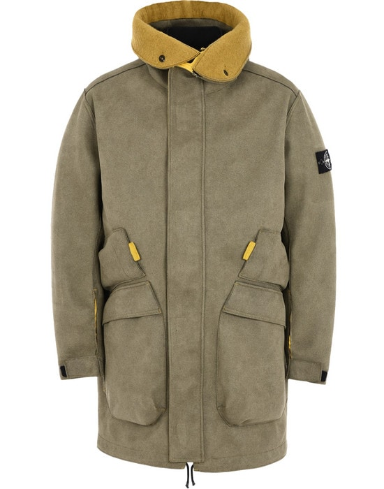 STONE ISLAND LONG JACKET 71229 MAN MADE SUEDE-TC