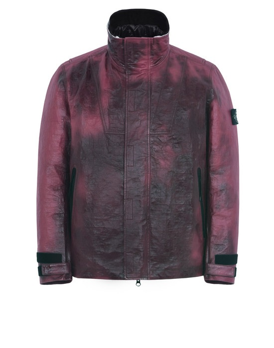 STONE ISLAND Lederjacke/Mantel 00199 ICE JACKET IN DYNEEMA® BONDED LEATHER