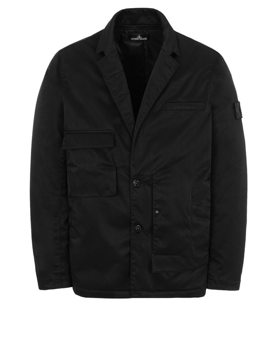STONE ISLAND SHADOW PROJECT 单西 A0105 ASYMMETRIC UTILITY BLAZER WITH STRATA AND CHAMBER POCKETS (POLY-OPTIMA) SINGLE LAYER FABRIC - HIGH PRESSURE GARMENT DYEING WITH ANTI-DROP AGENT