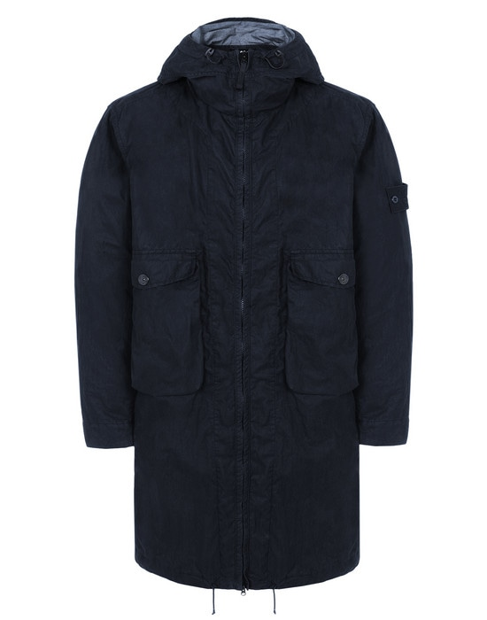 STONE ISLAND LONG JACKET 703F1 GHOST PIECE_50 FILI RESINATA