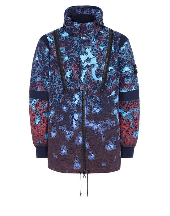 STONE ISLAND Mid-length jacket 449E1 PRINTED HEAT REACTIVE_TESSUTO TERMO SENSIBILE