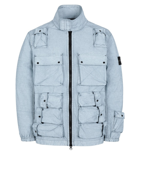 STONE ISLAND Jacket 43764 CANVAS PLACCATO