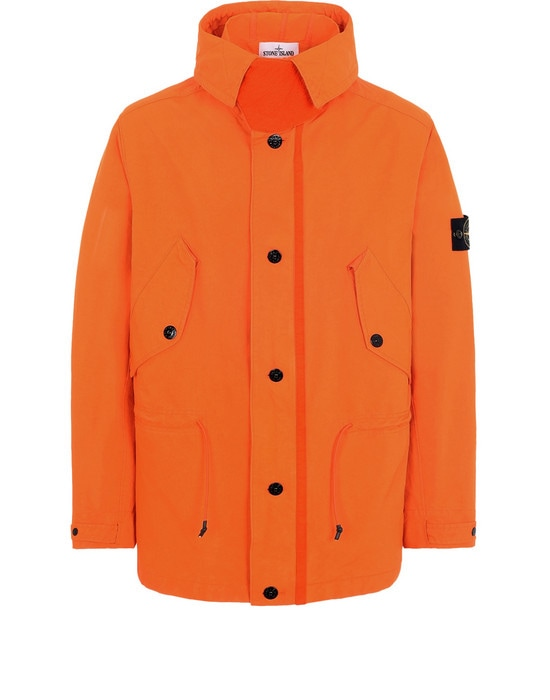 STONE ISLAND Mid-length jacket 44448 DAVID FLUO