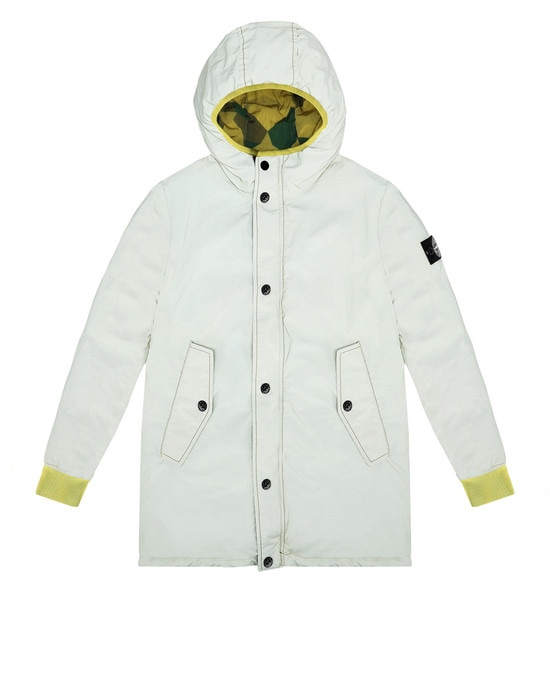 STONE ISLAND JUNIOR Куртка средней длины 41336 GARMENT DYED PLATED REFLECTIVE_REVERSIBILE
