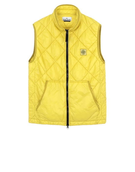 STONE ISLAND Vest G0124 GARMENT DYED QUILTED MICRO YARN