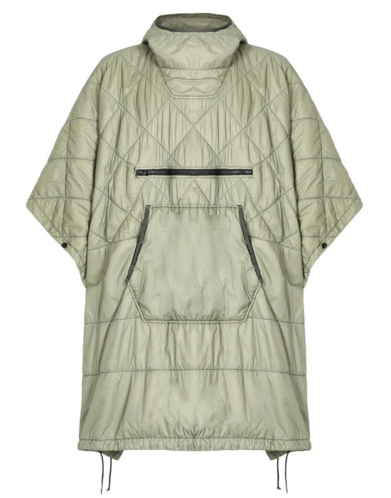 STONE ISLAND Пончо 70124 GARMENT DYED QUILTED MICRO YARN