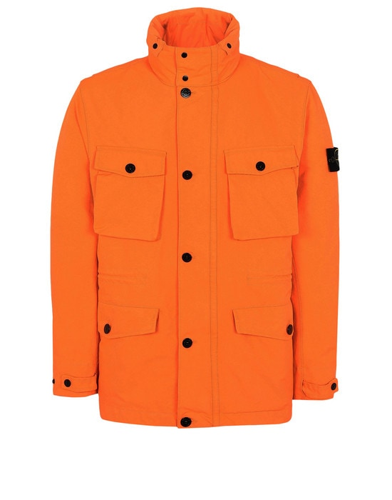 STONE ISLAND Mid-length jacket 44548 DAVID FLUO