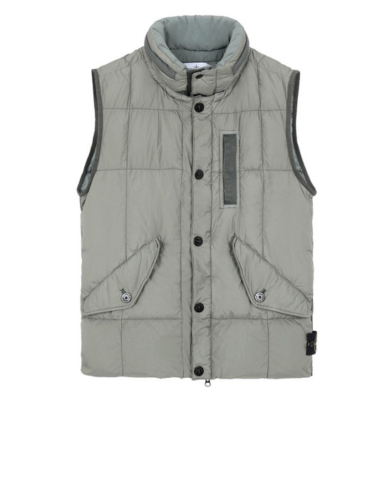 STONE ISLAND Gilet G0123 GARMENT DYED CRINKLE REPS NY DOWN