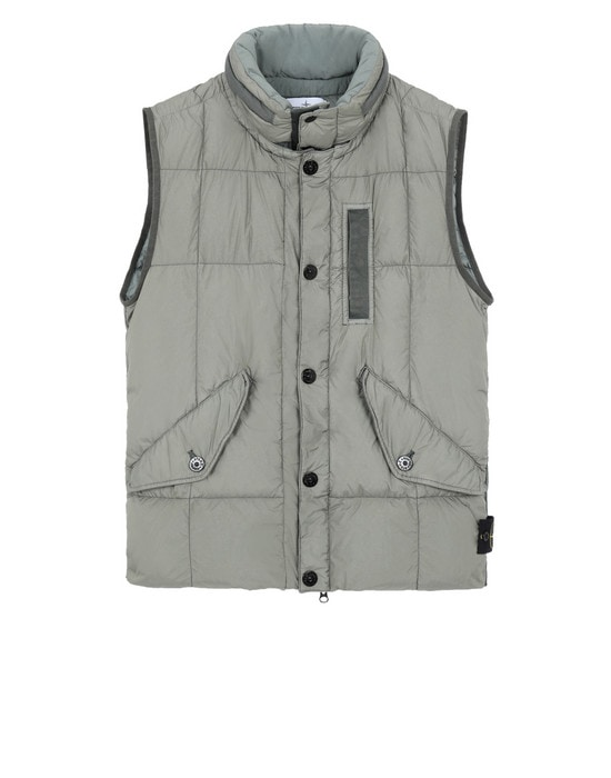 STONE ISLAND Waistcoat G0123 GARMENT DYED CRINKLE REPS NY DOWN