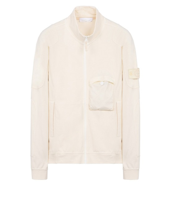 STONE ISLAND Zip sweatshirt 618F6 GHOST PIECE