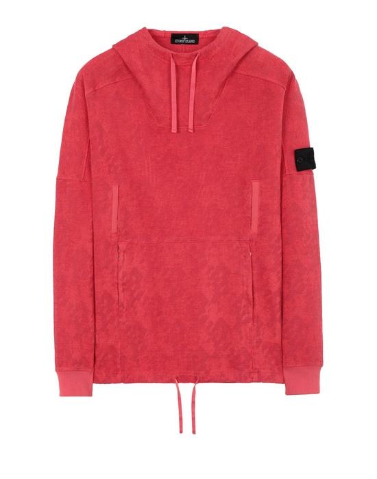 STONE ISLAND SHADOW PROJECT Sweatshirt 60309 FLANK POCKET ANORAK (PRINTED JERSINHO) PANAMA WEAVED COTTON CHENILLE WITH ENPHATIZING PRINT - GARMENT DYED