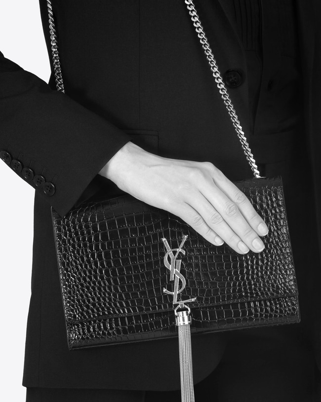 Black Medium Kate Chain Bag Saint Laurent em8mY