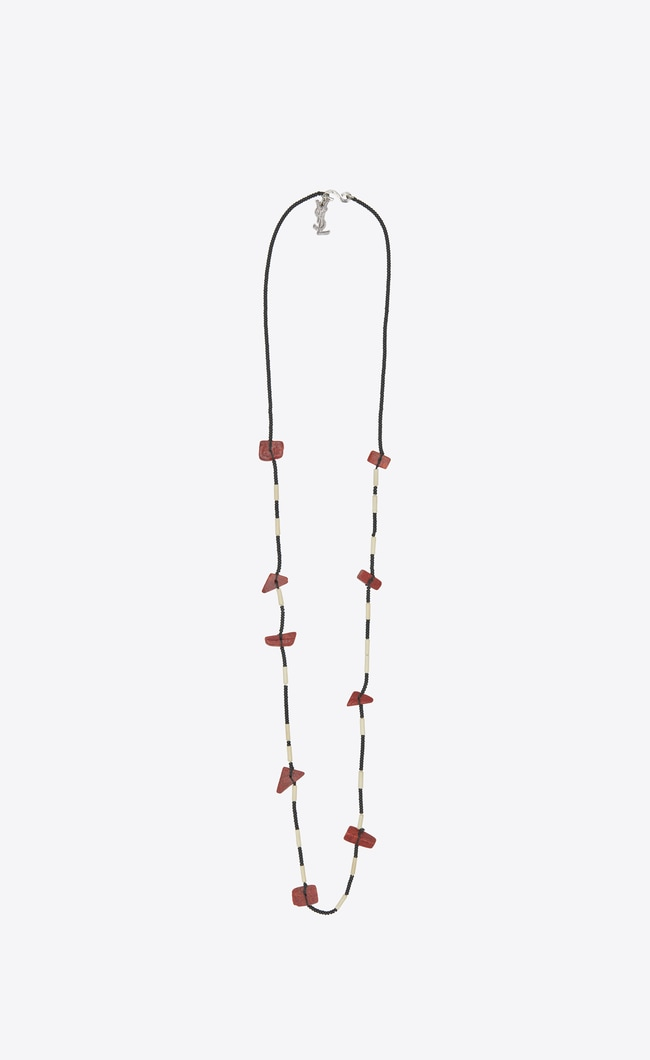 Saint Laurent Tribal necklace with red beads obGoku