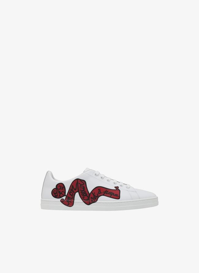 """Sneaker """"Mon Coeur Est À Papa"""" - maison-alaia.com"""