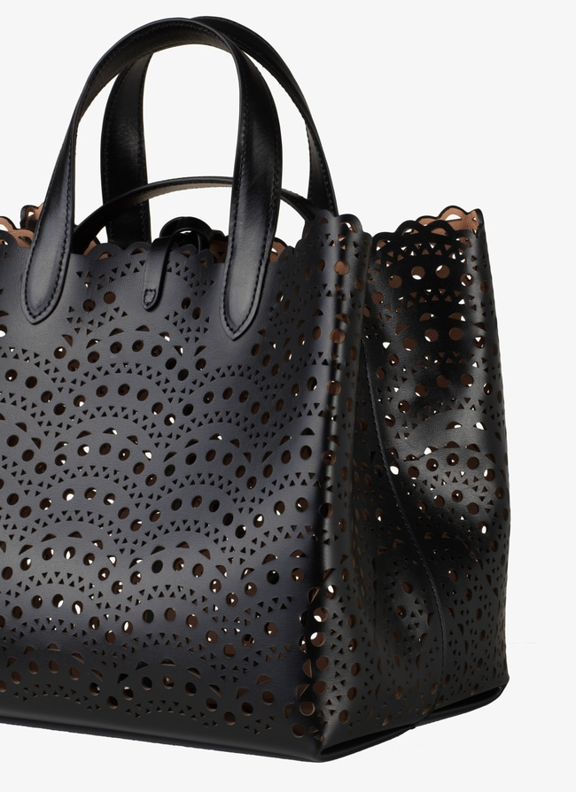 FRIDA SMALL LEATHER TOTE  - maison-alaia.com
