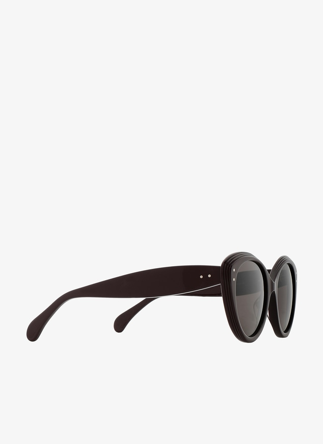 Burgundy Cat-eye Sunglasses  - maison-alaia.com
