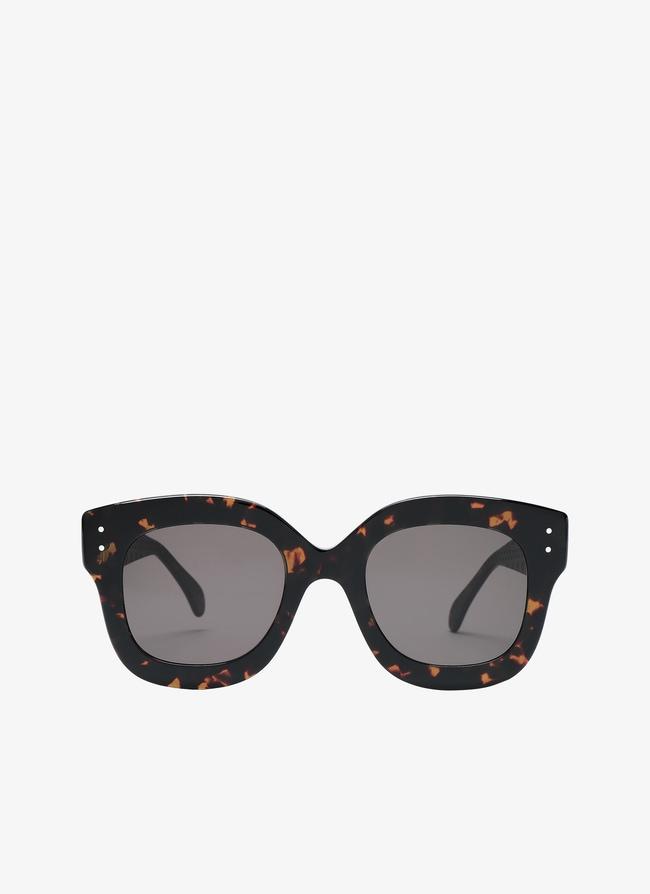 Lunettes de soleil au motif écaille de tortue - maison-alaia.com