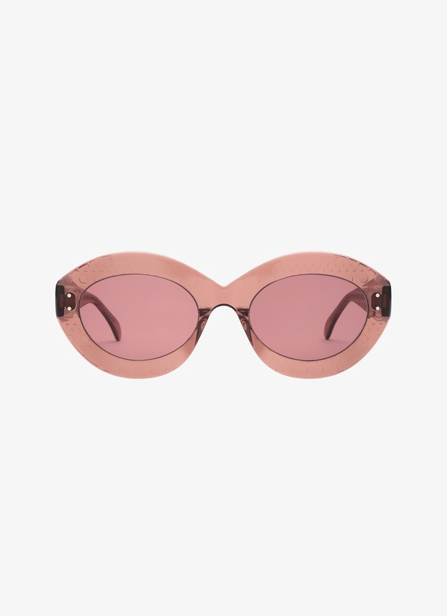 Blush Oval Sunglasses - maison-alaia.com