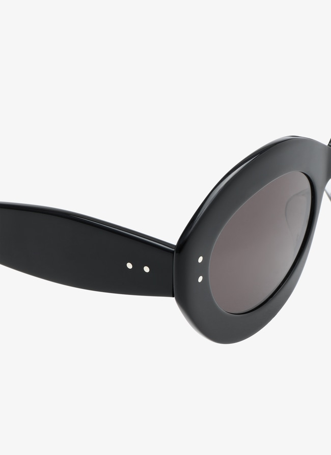 Black Oval Sunglasses - maison-alaia.com