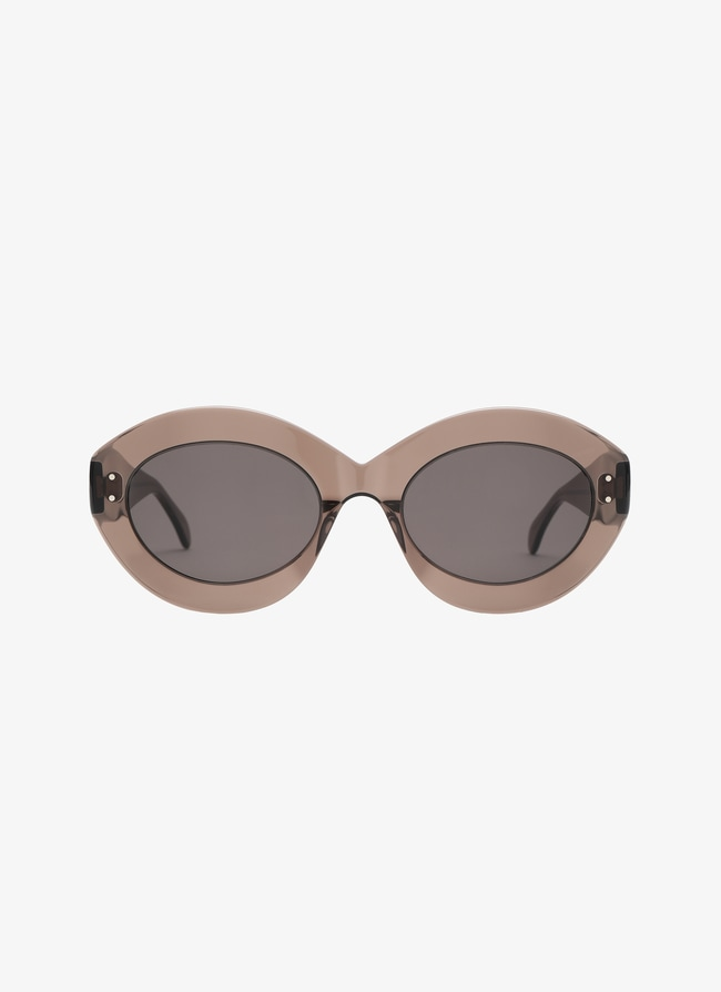 Brown Oval Sunglasses - maison-alaia.com
