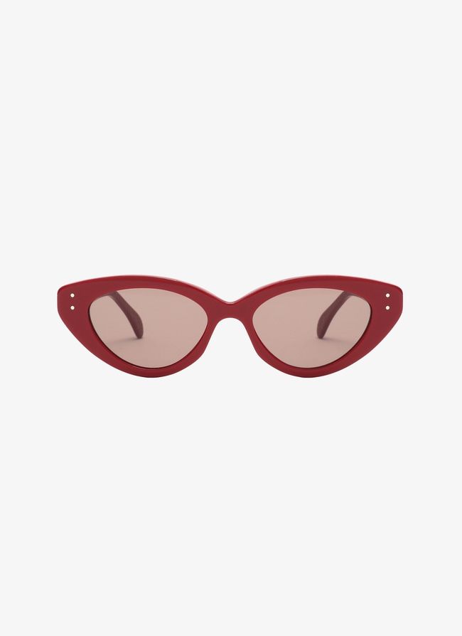 Red Cat Eye Sunglasses - maison-alaia.com