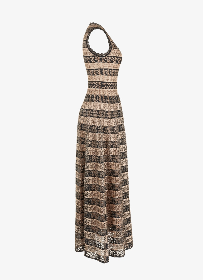 Long flared knitted dress - maison-alaia.com