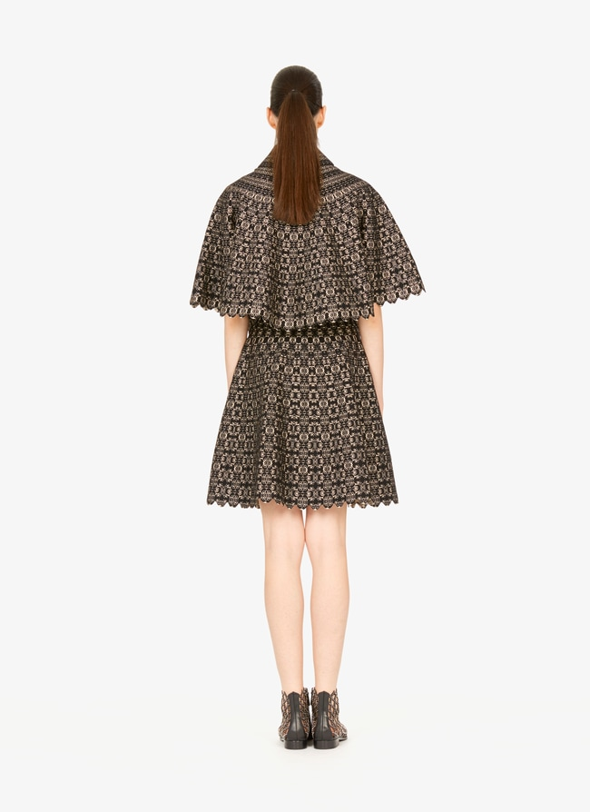 Flared knitted cape - maison-alaia.com
